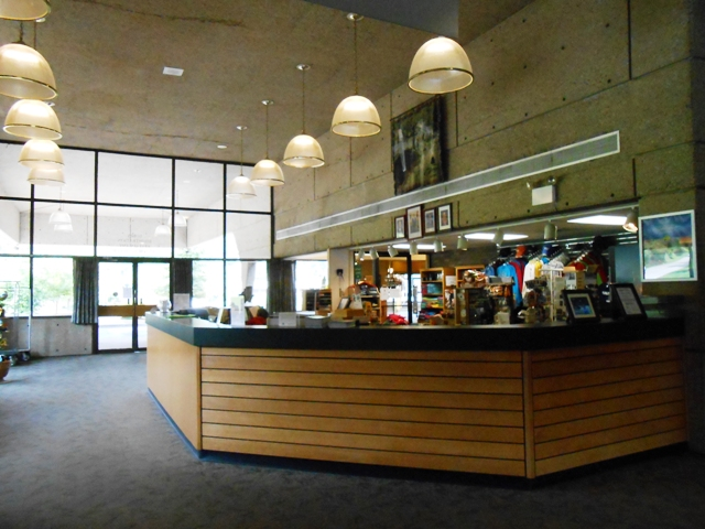 Lobby of Conference Center and Fall Creek Falls Restaurant.