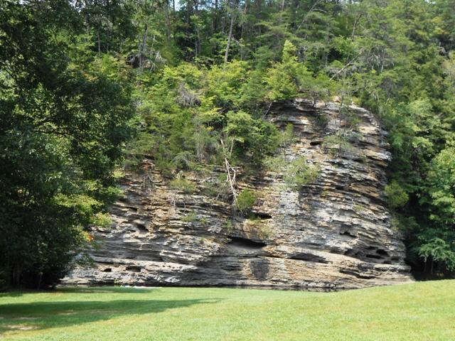 Rock formation inside Fall Creek Falls State Park.
