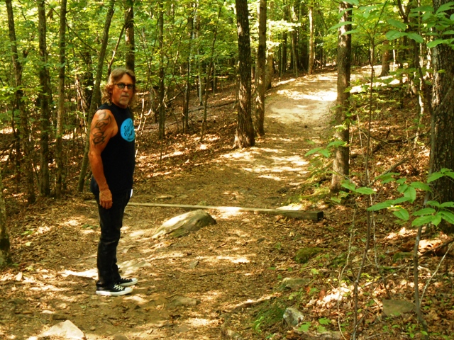 On the trail to Fall Creek Falls.