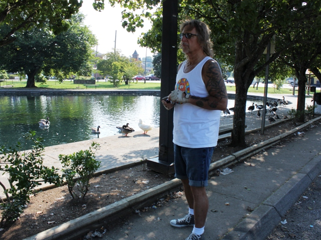 Jeff at the Fountain City Duck Pond.