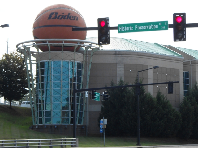 Women's Basketball Hall of Fame on Hall of Fame Drive.