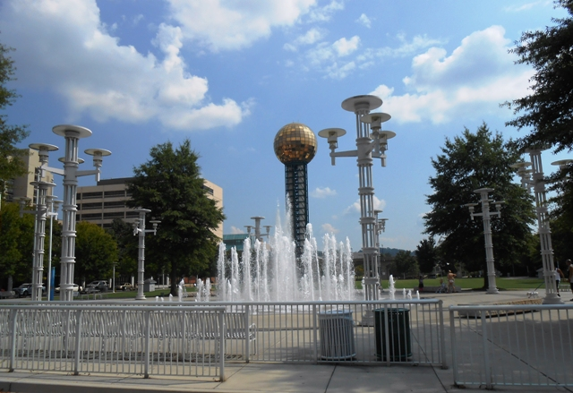 World's Fair Park with the Sunshere in the background.