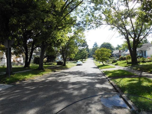 Leaving our neighborhood.