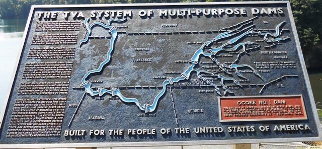 Map at the Ocoee Dam.