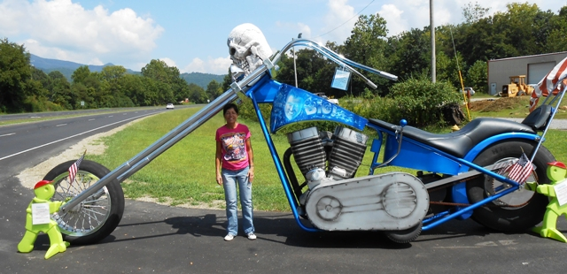 And here is the World's Largest Motorcycle!