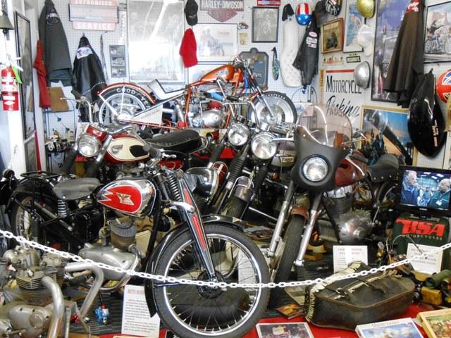 Vintage bike display.
