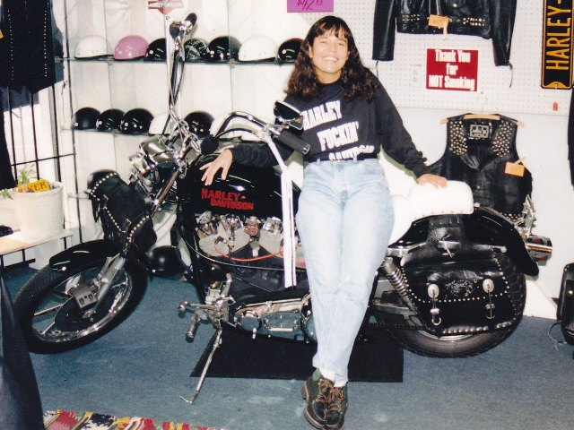 Pam in Chapman Highway store. 1994