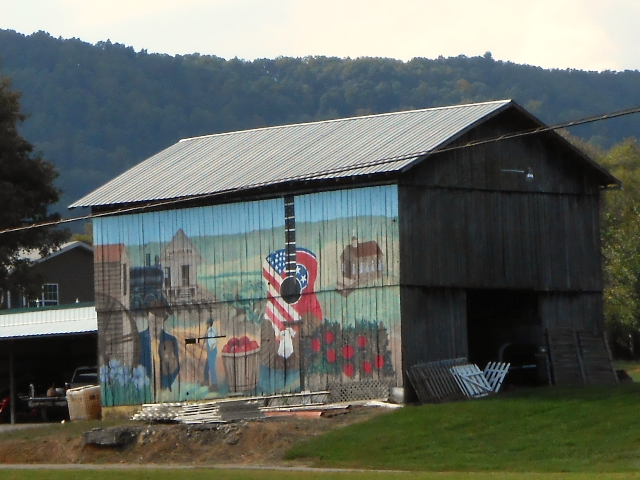 Mural on barn in Washburn.