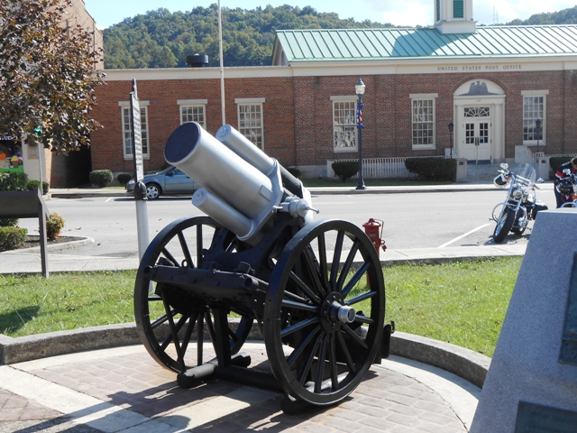 Cannon on display.