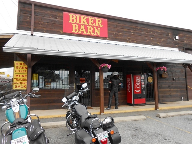 The Biker Barn in Blairsville, Georgia.
