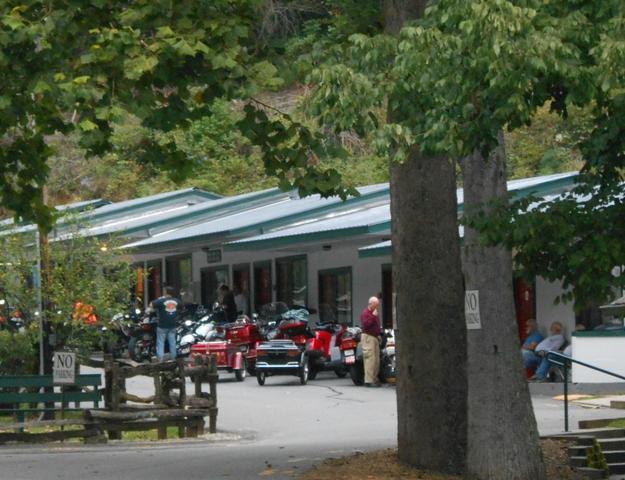 The resort at Deals Gap was full of bikers.