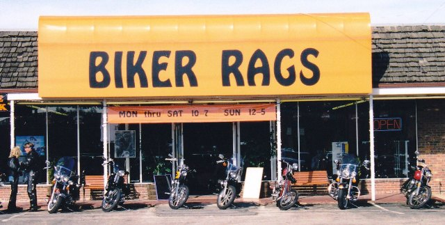 Biker Rags on Kingston Pike in 1996.