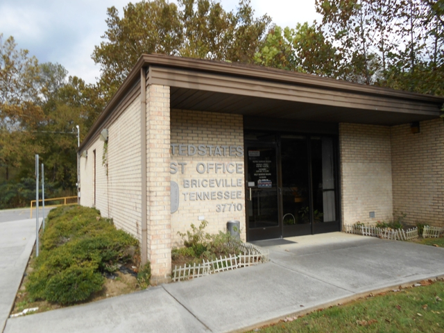 Post office in Briceville.