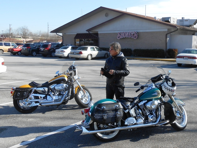 After breakfast, we gassed up and headed off to the Harley shop.