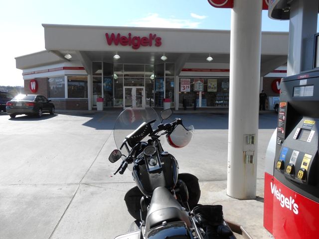 Fueling up at Weigel's.