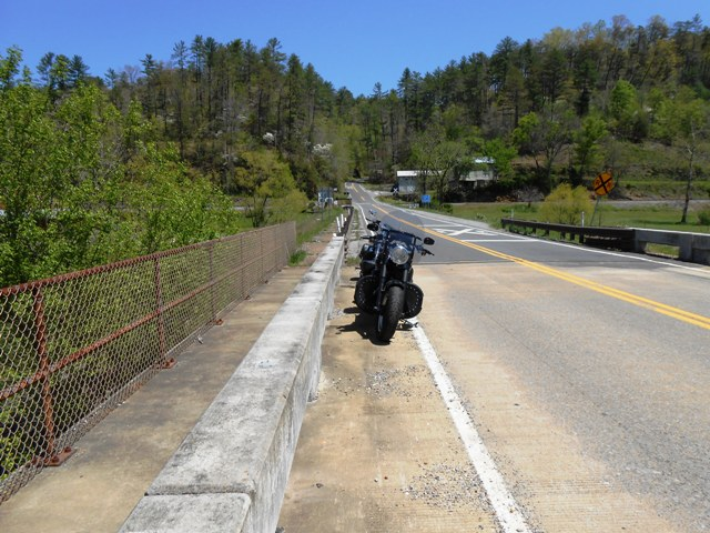 On bridge over the Hiwassee River.