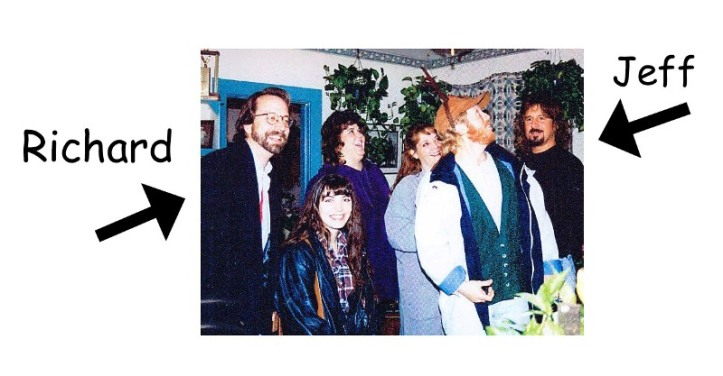 That's Richard's wife Nancy standing next to him. Christmas 1993