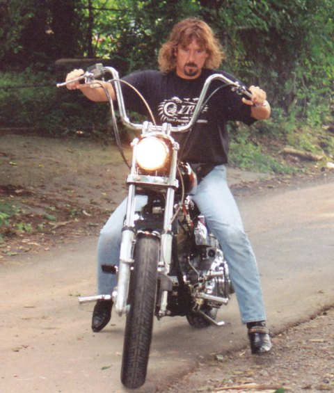 Jeff on his Shovelhead Spring 1994