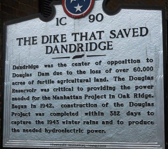The dyke that saved Dandridge.