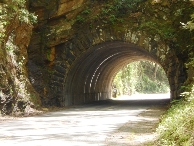 Close up of the tunnel.