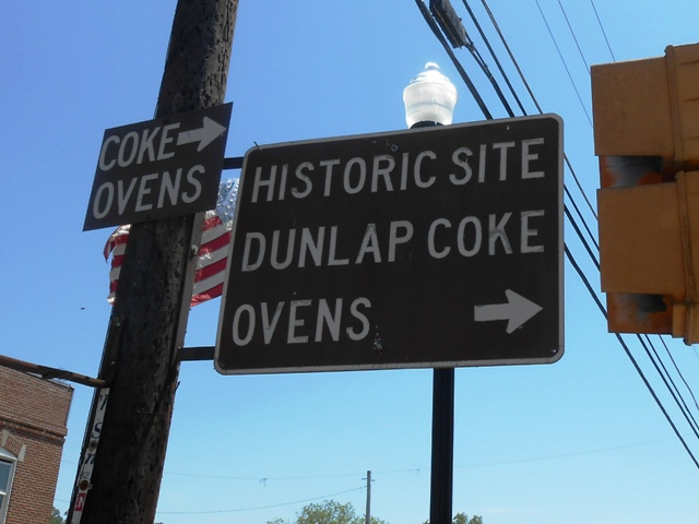 Sign in downtown Dunlap points the way.