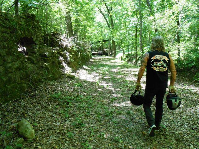 Jeff walking toward the Amphitheater.