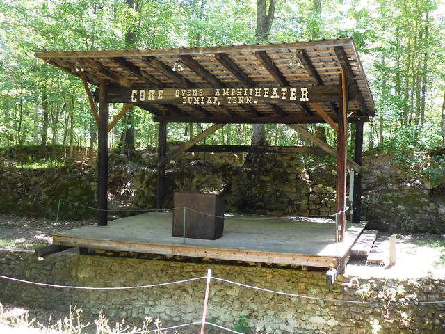 The stage right behind the Coke Ovens.
