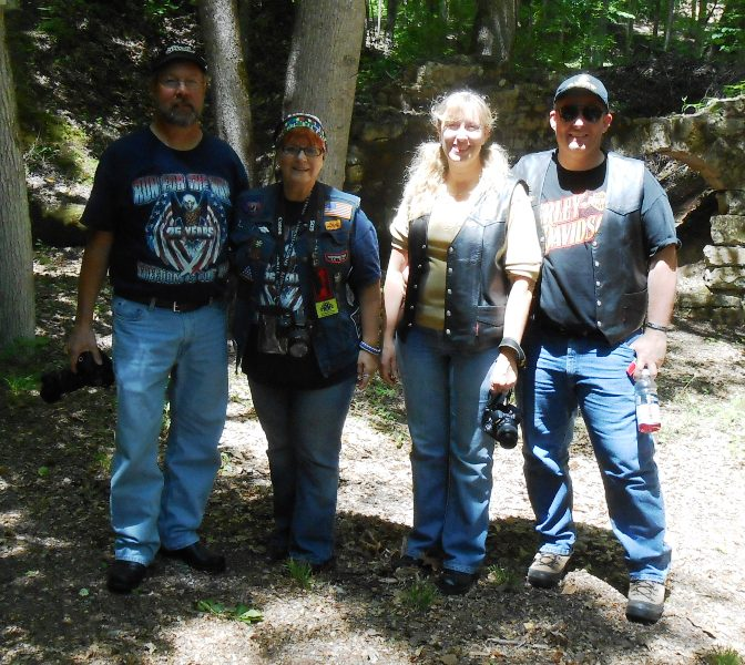 We met some bikers visiting from Huntsville, Alabama. Bikers are the friendliest people!