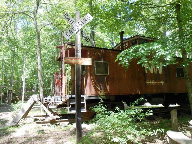 Railroad car in Coke Oven Park.