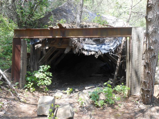 Mouth of an abandoned mine.