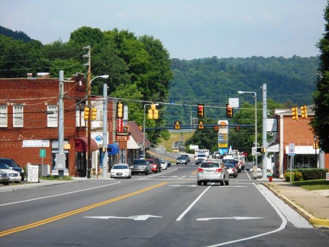 View of downtown Kingston, TN.
