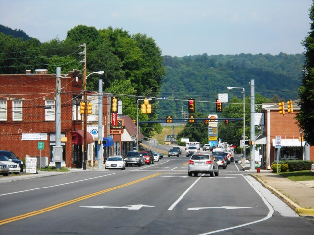 View of downtown Kingston, TN.