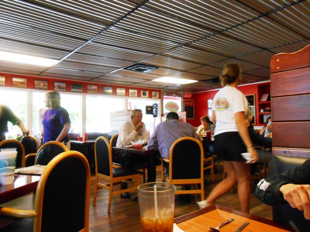 Inside the Land's Restaurant in Dunlap, TN.