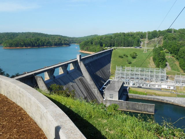 View from Norris Dam overlook.