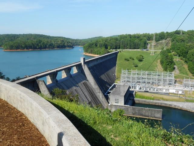View from Norris Dam overlook.