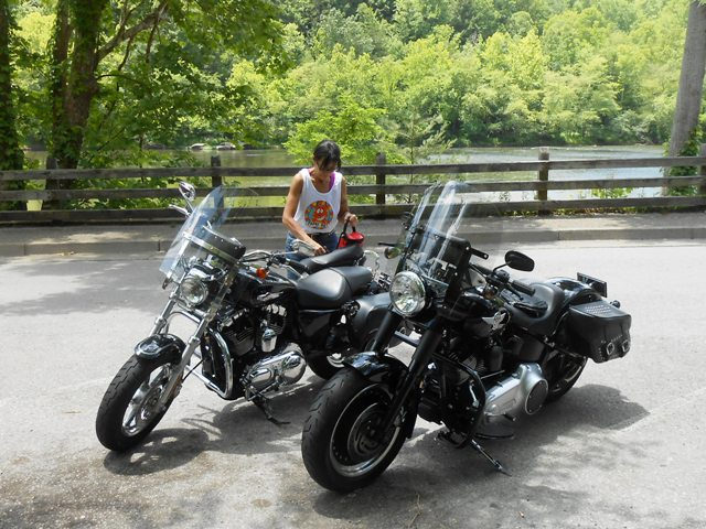 Preparing to leave out from Cumberland Falls Park.
