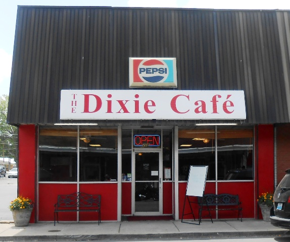 The Dixie Cafe is located in downtown Corbin, Kentucky.