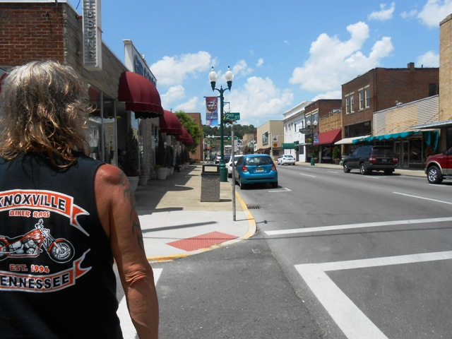 Walking around downtown Corbin.