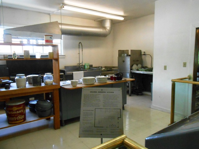 View of the Sanders kitchen.