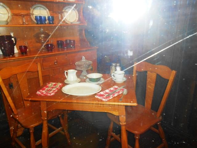 View of old restaurant breakfast nook.