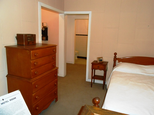 View of Sanders model motel room.