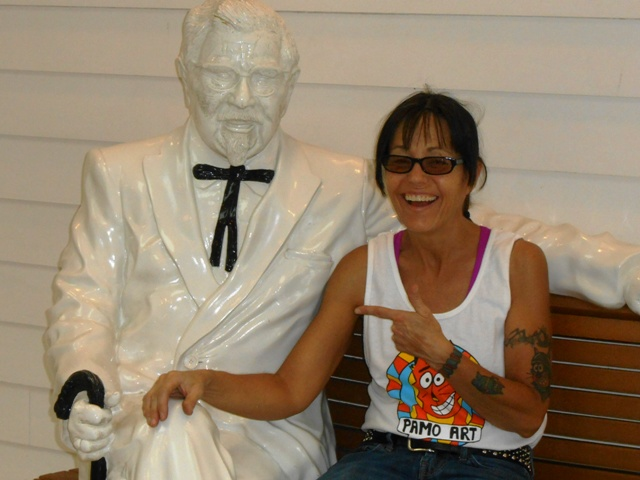 Pamo relives her former Halloween memory with the Colonel.