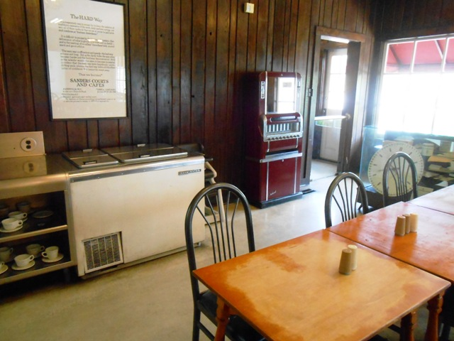 Dining room of the old Sanders Cafe.