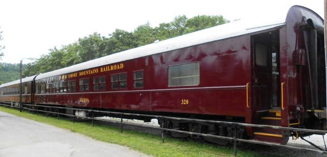 Historic railway in Bryson City, NC