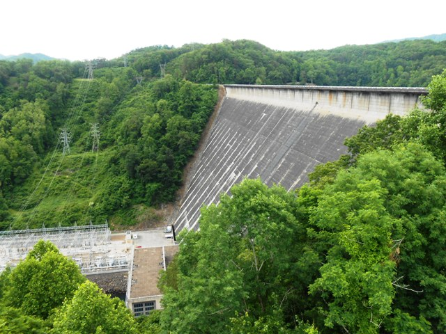 View of dam from overlook.