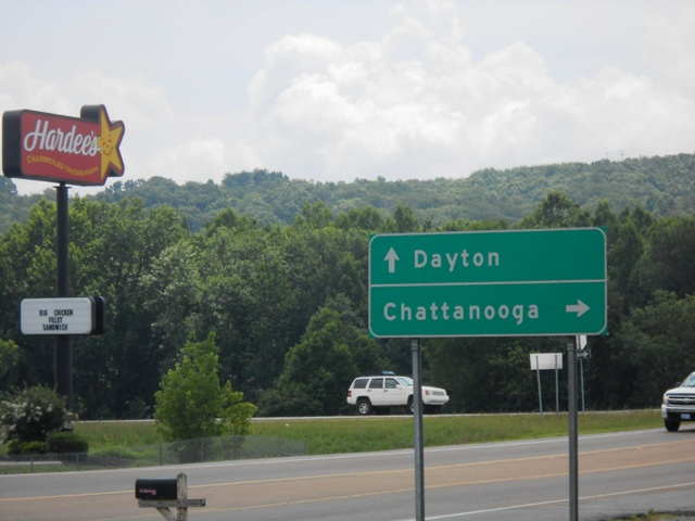 Heading toward Dayton, TN.
