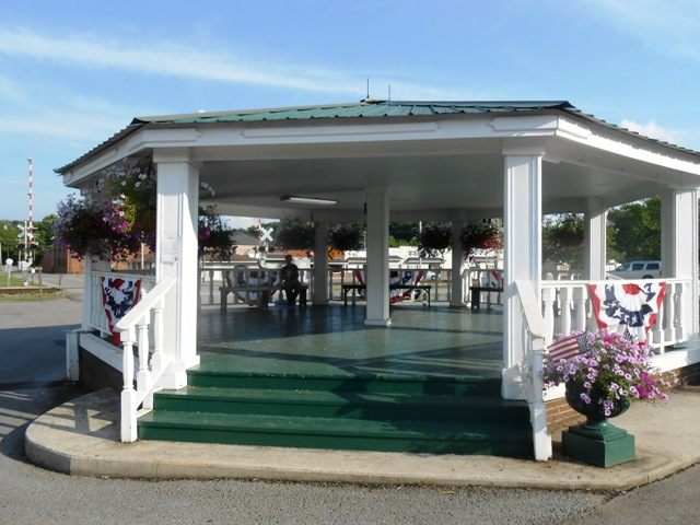 This gazebo in Sweetwater is a nice place to take a break.