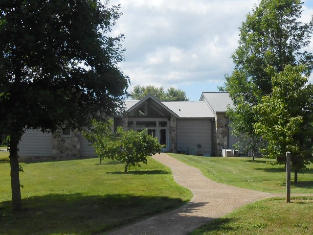 Entrance to Cordell Hull Birthplace and Museum.
