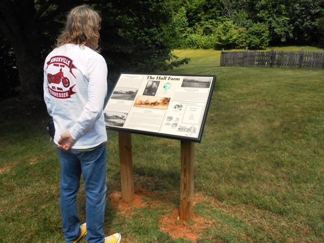 Plaques along the property provide lots of information.