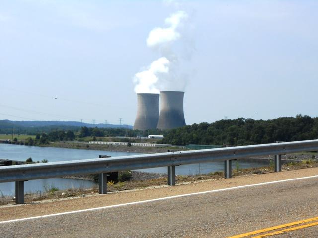 View of the stacks near Watts Bar Dam.
